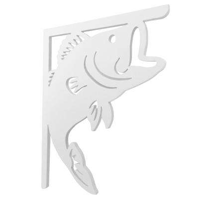 16 in. Paintable PVC Decorative Bass Fish Mailbox or Porch Bracket