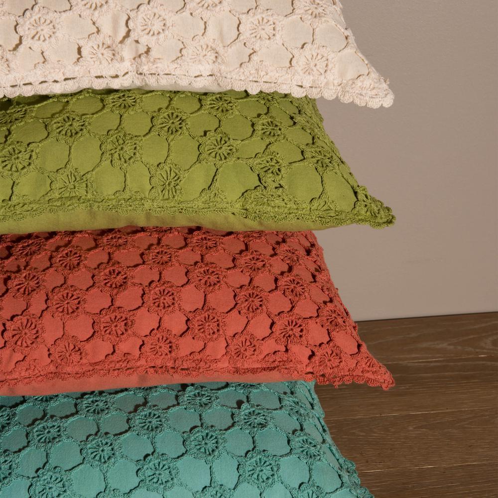 Crochet Envy FERN (PEARL) Pearl Decorative Pillow