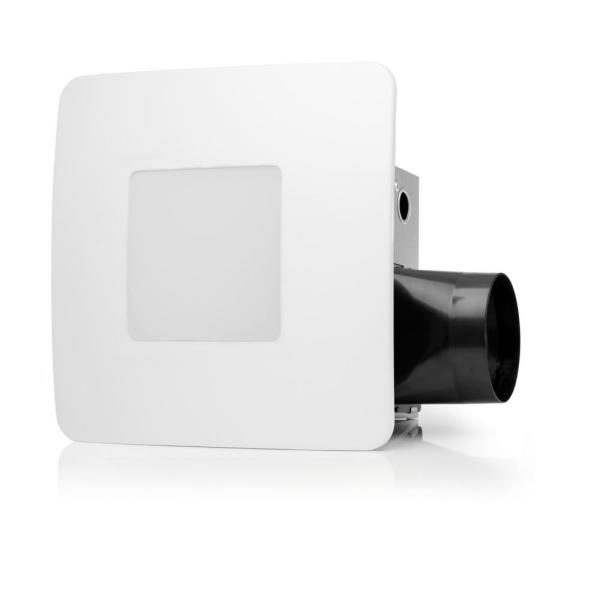 80 CFM Easy Installation Bathroom Exhaust Fan with LED Lighting and Humidity Sensing