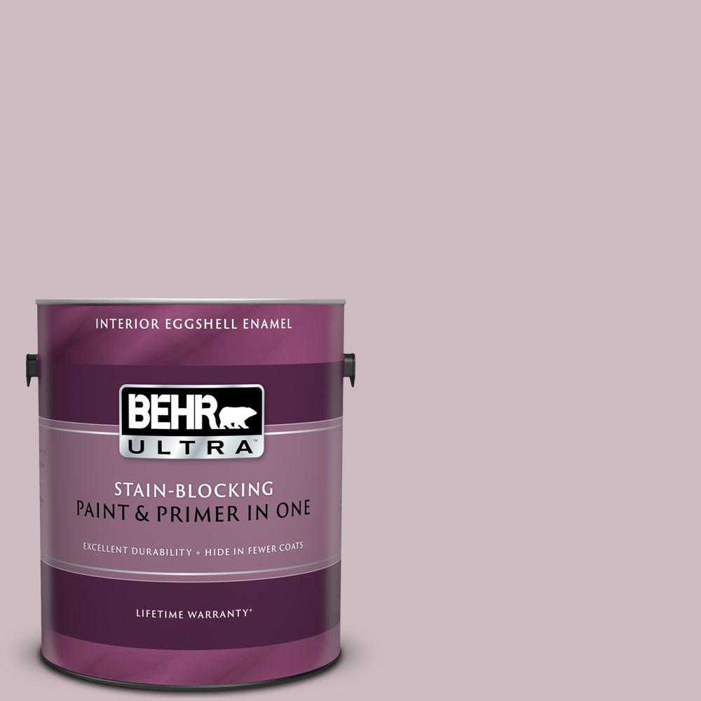 Behr Ultra 1 Gal 100e 3 Pastel Violet Eggshell Enamel Interior Paint And Primer In One
