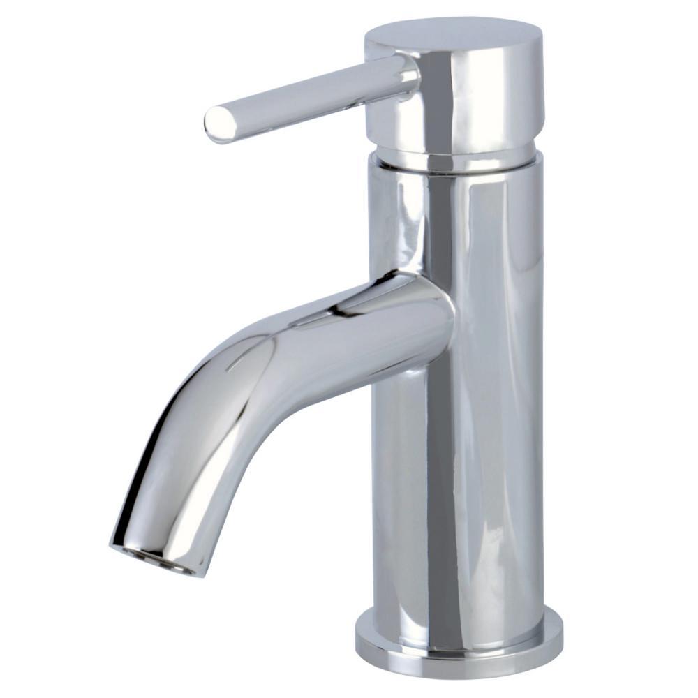 Simple Single Hole Single-Handle Bathroom Faucet in Polished Chrome