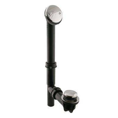 Tip-Toe Black Poly Adjustable Overflow Assembly, Polished Nickel