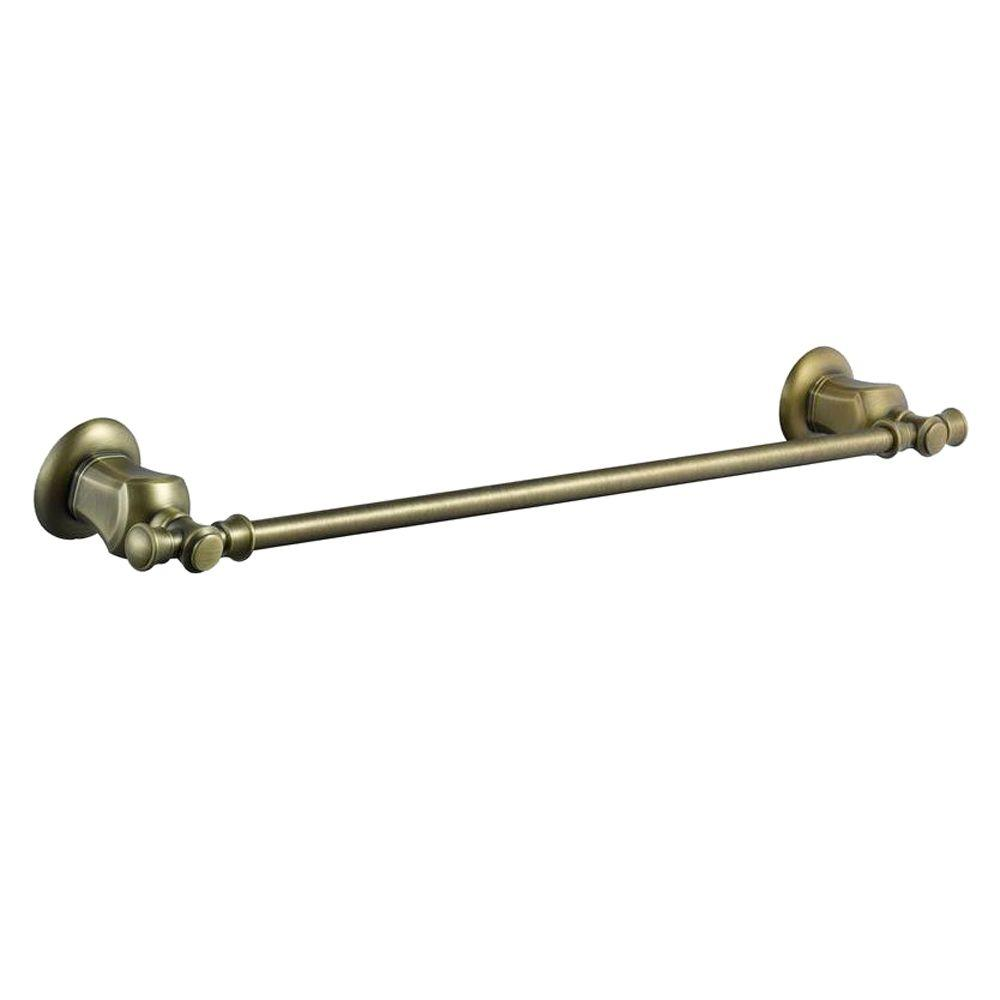 null Verdanza 18 in. Towel Bar in Antique Brass-DISCONTINUED