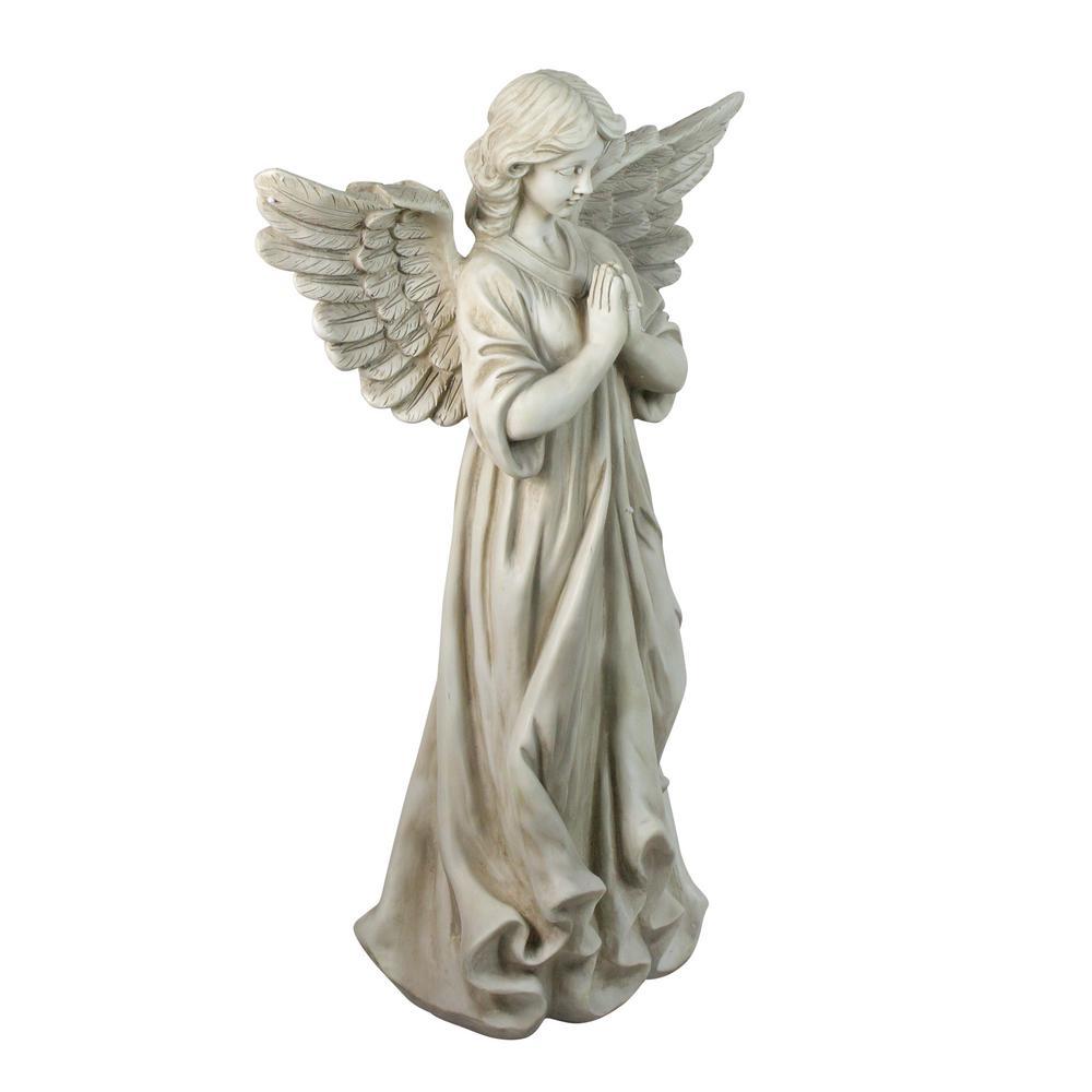 29.5 in. Angel Standing in Prayer Outdoor Garden Statue