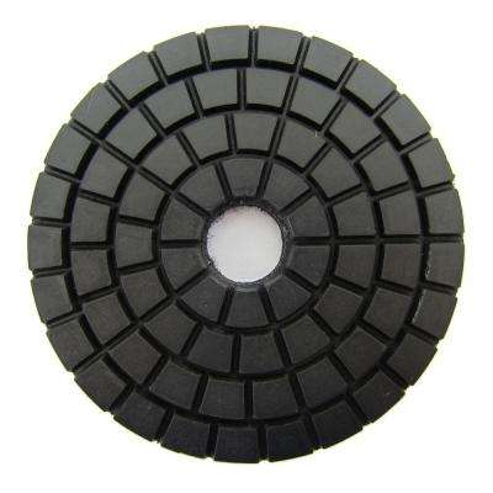 4 in. Black Wet Diamond Polishing Pad Buff for Stone