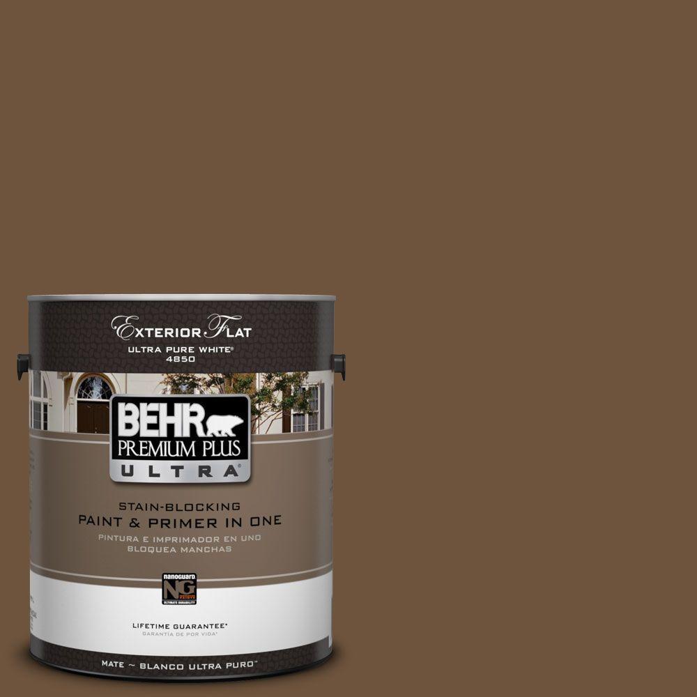 BEHR Premium Plus Ultra 1-Gal. #UL140-23 Ancient Root Flat Exterior Paint