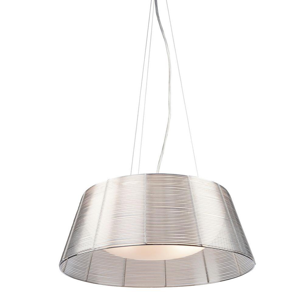 Aoba 3-Light Silver Pendant