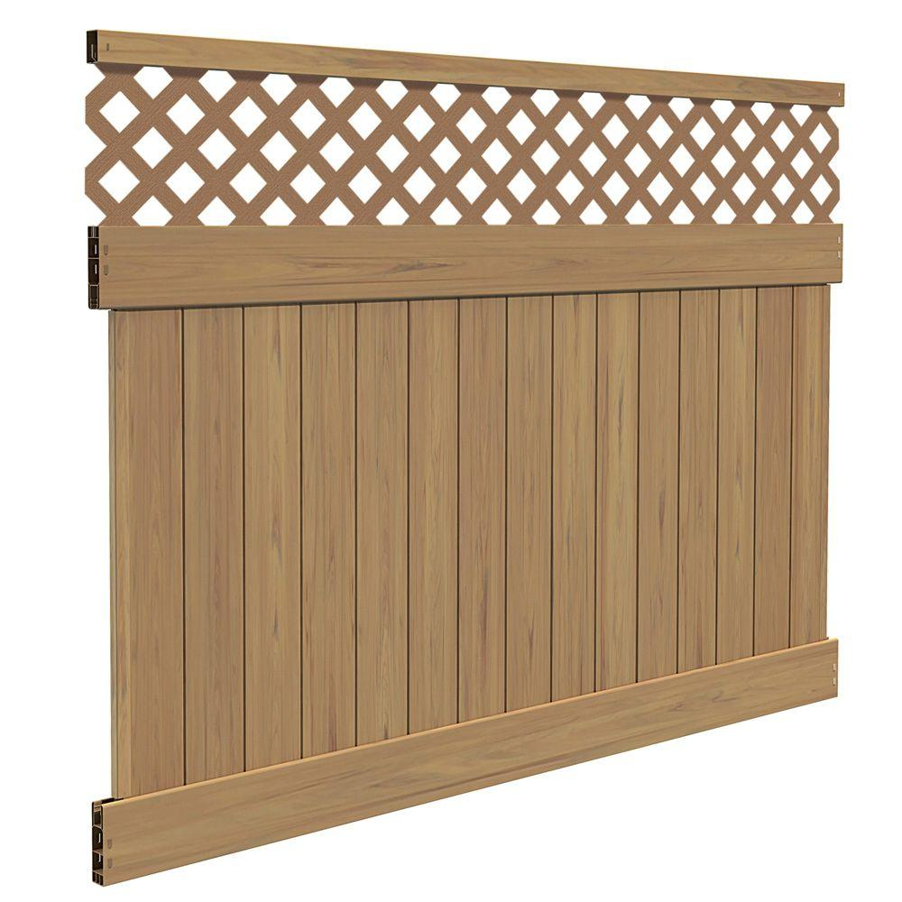 Veranda Carlsbad 6 Ft H X 8 Ft W Cypress Vinyl Lattice