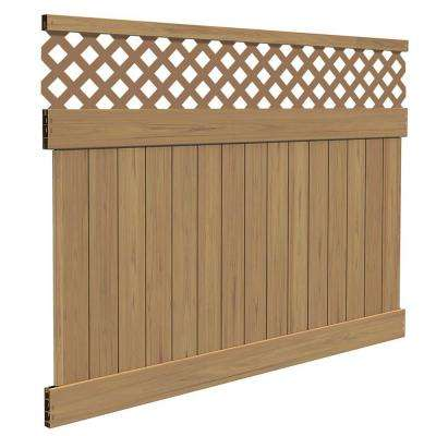 Carlsbad 6 ft. H x 8 ft. W Cypress Vinyl Lattice Top Fence Panel Kit