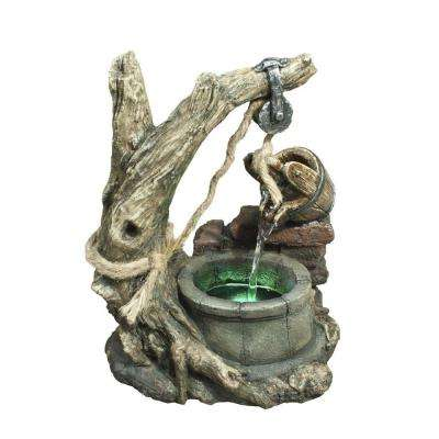 13 in. Bucket and Well Table Top Fountain