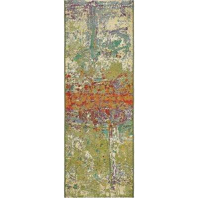 Outdoor Crumpled Multi 2' 0 x 6' 0 Runner Rug