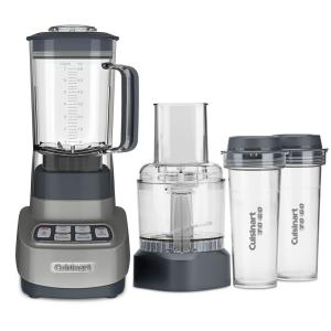 Cuisinart Velocity Ultra Trio 1 HP Blender and Food Processor with Travel Cups Gun Metal by Cuisinart