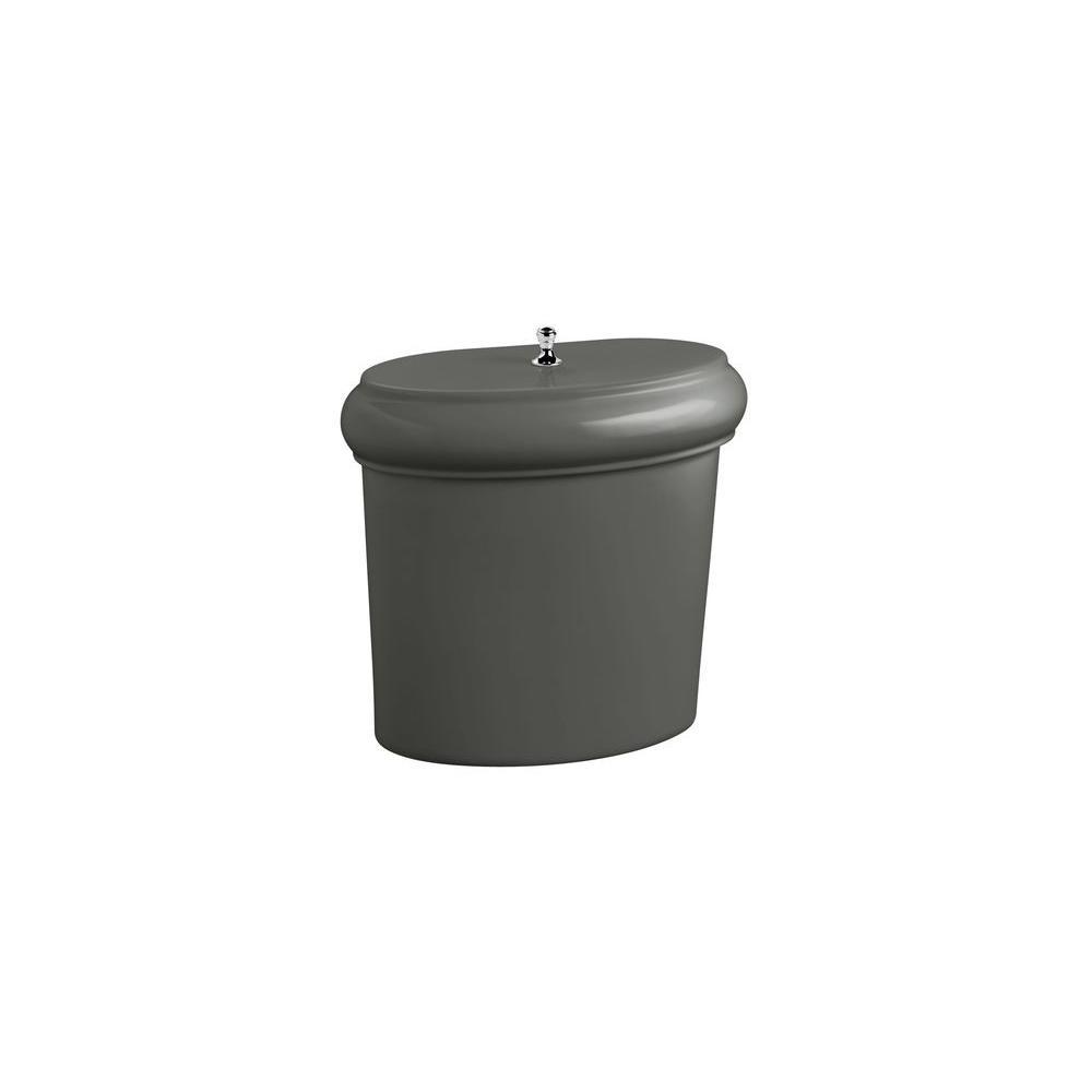KOHLER Revival 1.6 GPF Toilet Tank Only Less Trim in Thunder Grey