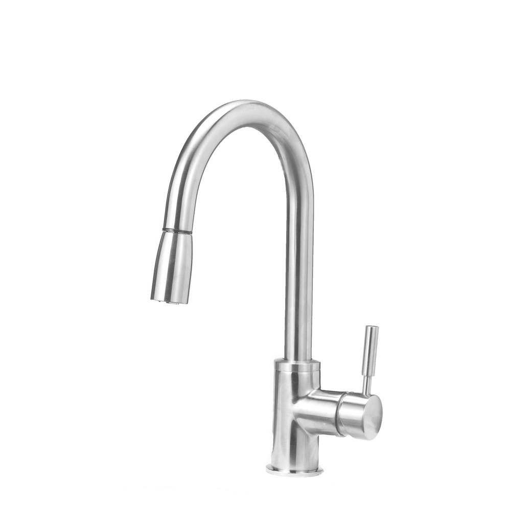 Blanco SONOMA Single Handle Pull Down Sprayer Kitchen Faucet In  Stainless 441647   The Home Depot