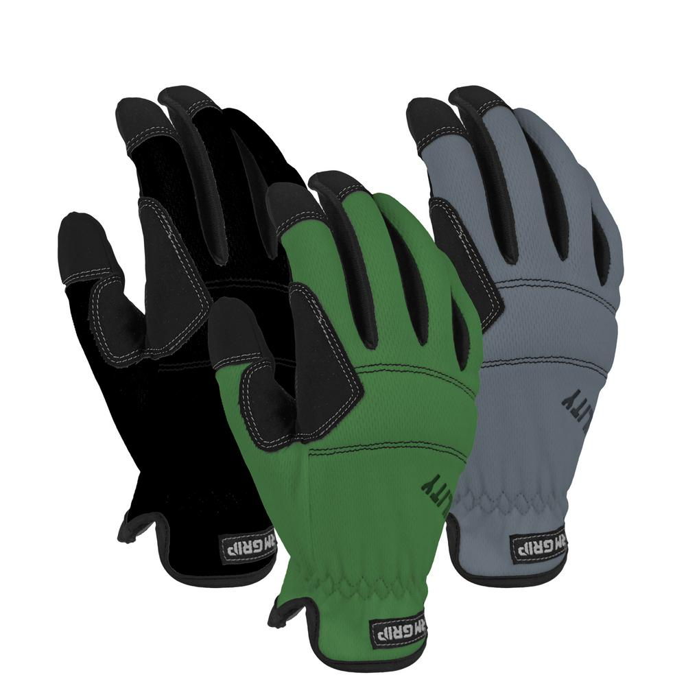 FirmGrip Firm Grip Medium Utility High Performance Glove (3-Pack), Adult Unisex, Multi