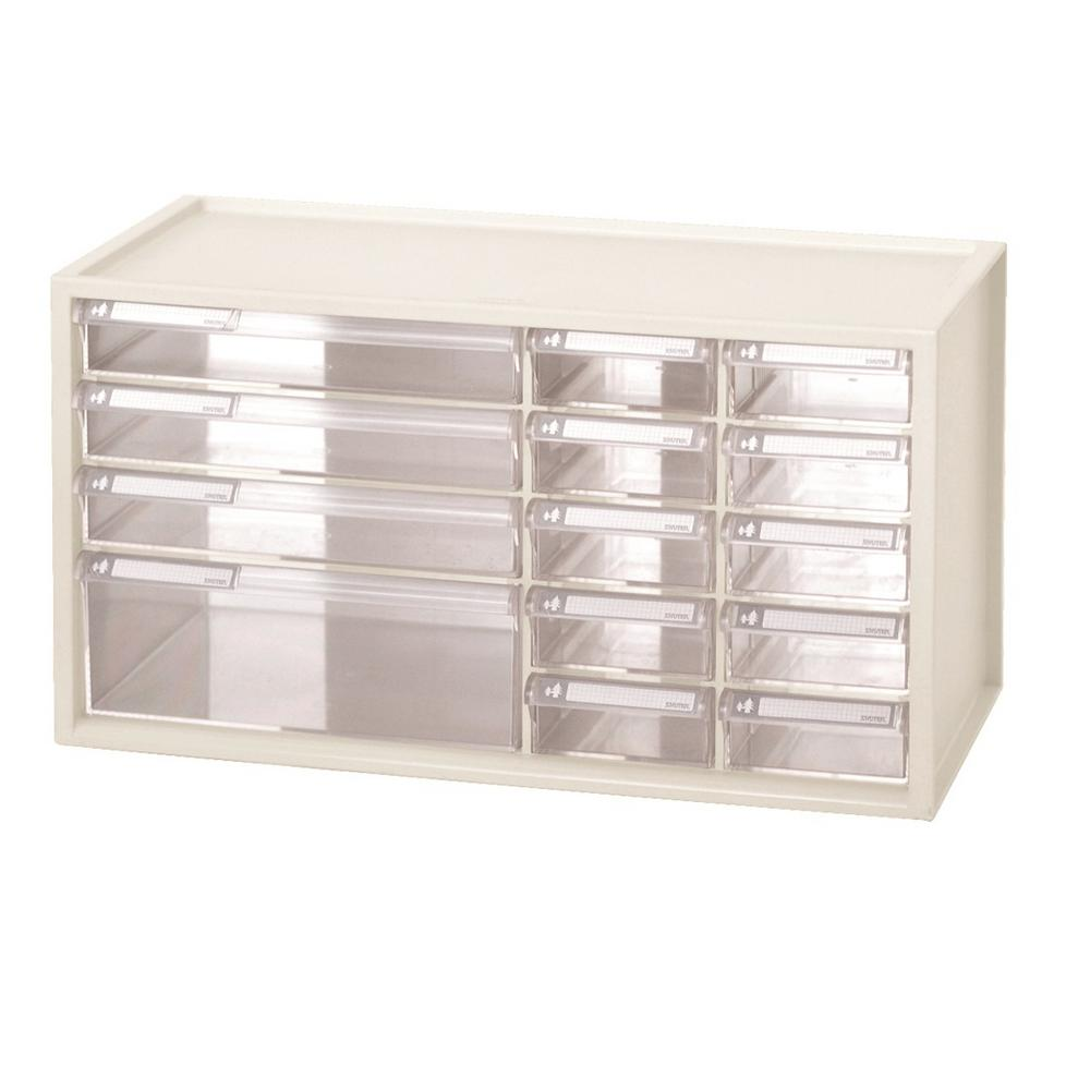 Large Stationery Crafts and Hardware Organizer Plastic Storage Bin with