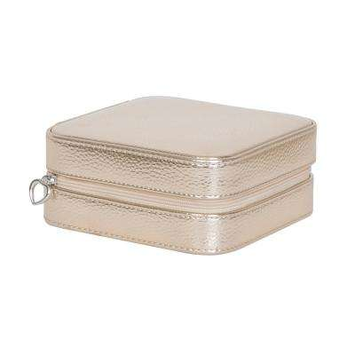 Luna Gold Faux Leather Jewelry Box