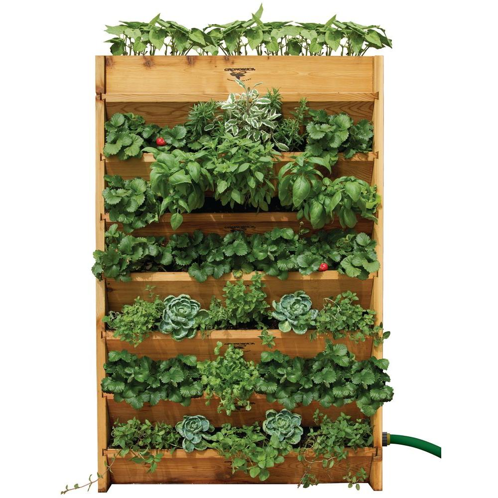 Gronomics 32 in. W x 45 in. H x 9 in. D Vertical Garden Bed