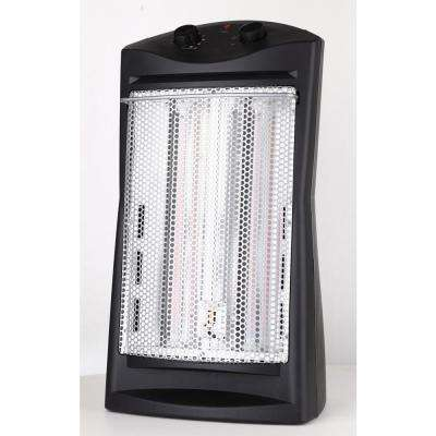 1500-Watt Quartz Tower Heater, Black
