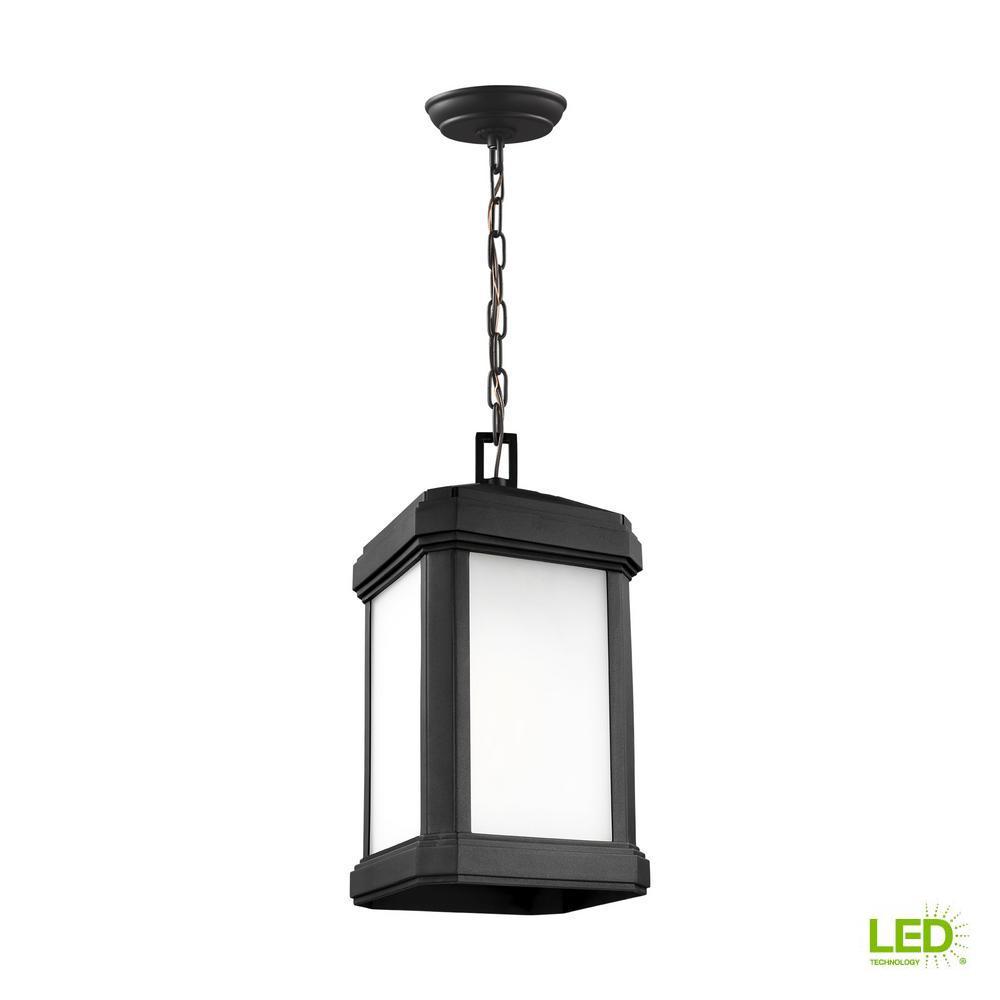Gaelan Black 1-Light Hanging Pendant with LED Bulb