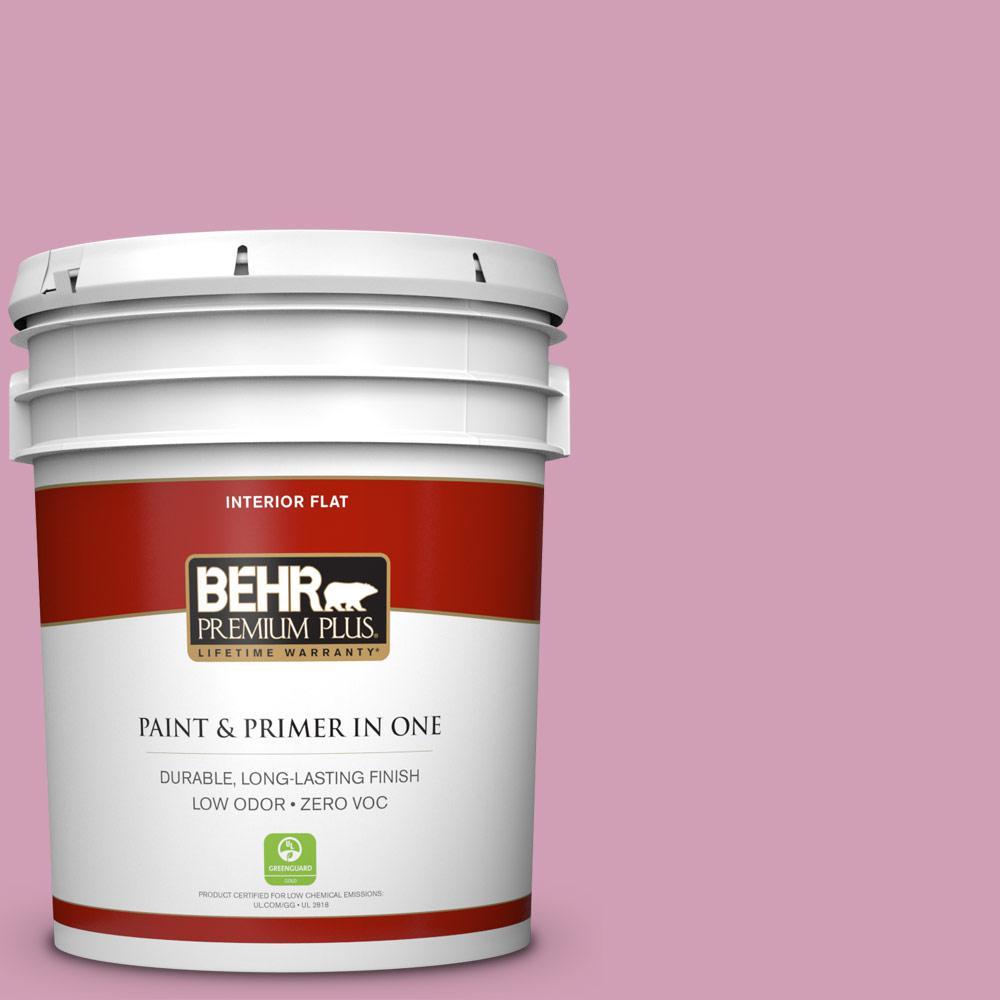 BEHR Premium Plus 5-gal. #M130-4 Raspberry Smoothie Flat Interior Paint