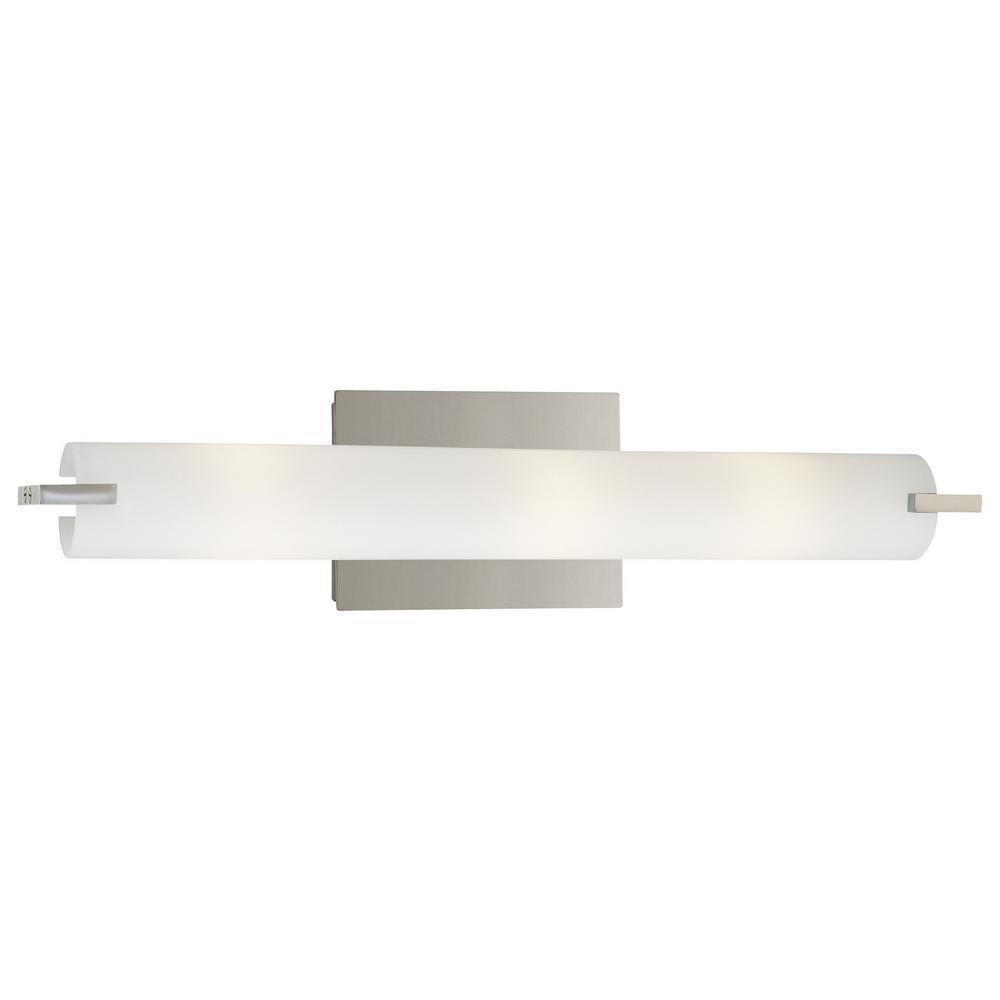 Tube 3-Light Chrome Wall Sconce
