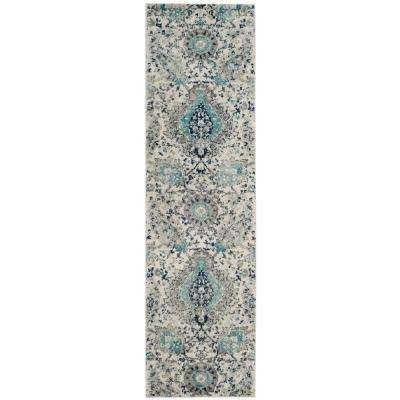 Madison Cream/Light Gray 2 ft. 3 in. x 18 ft. Runner Rug