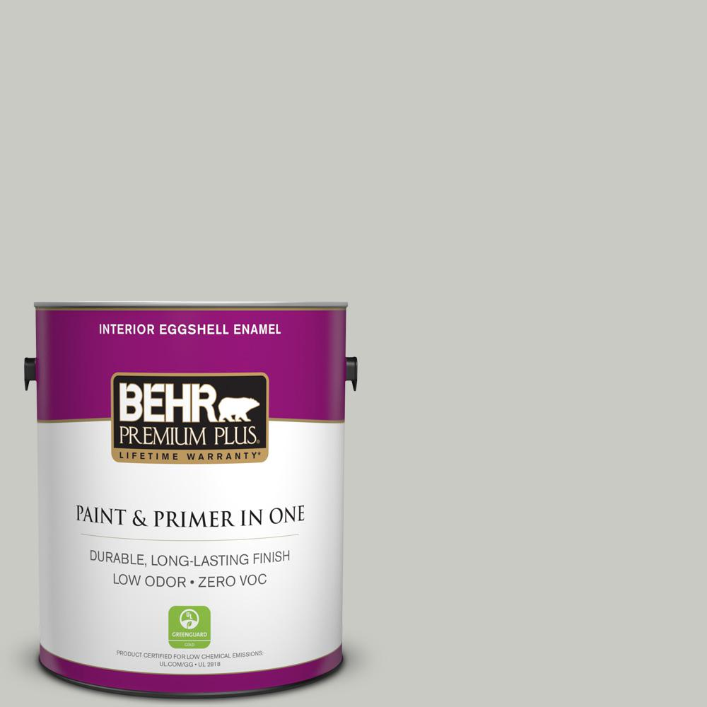 1-gal. #N380-2 Heath Gray Eggshell Enamel Interior Paint