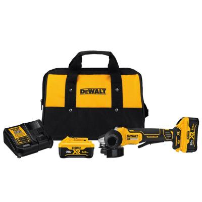 20-Volt MAX Lithium Ion Cordless 4-1/2 in. (115 mm) Brushless Paddle Switch Small Angle Grinder Kit with Kickback Brake