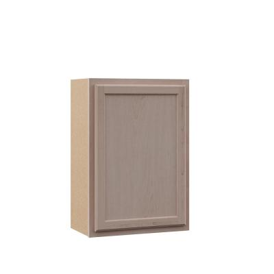 Hampton Assembled 21x30x12 in. Wall Cabinet in Unfinished Beech