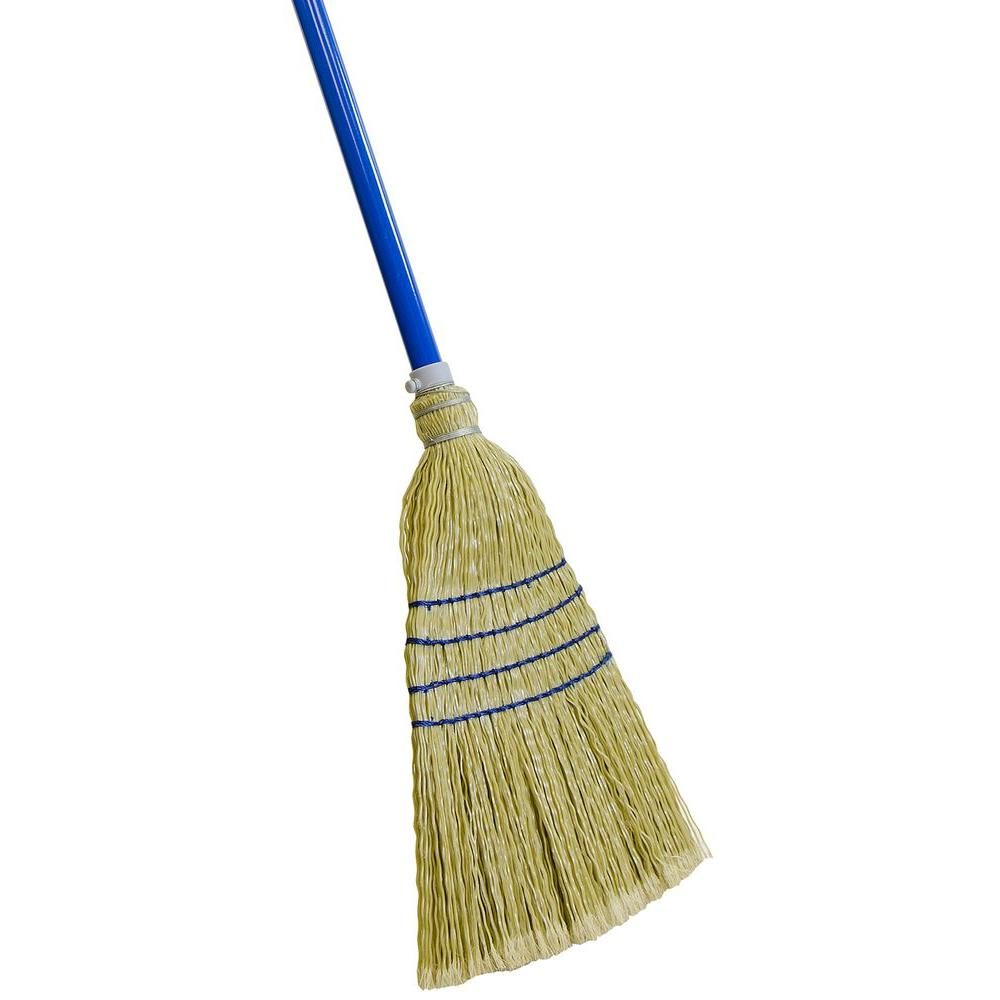 Quickie Complete Sweep Poly Corn Broom 9021 The Home Depot