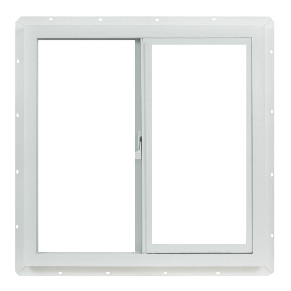 23.5 in. x 23.5 in. Left-Hand Single Slider Vinyl Windows Dual