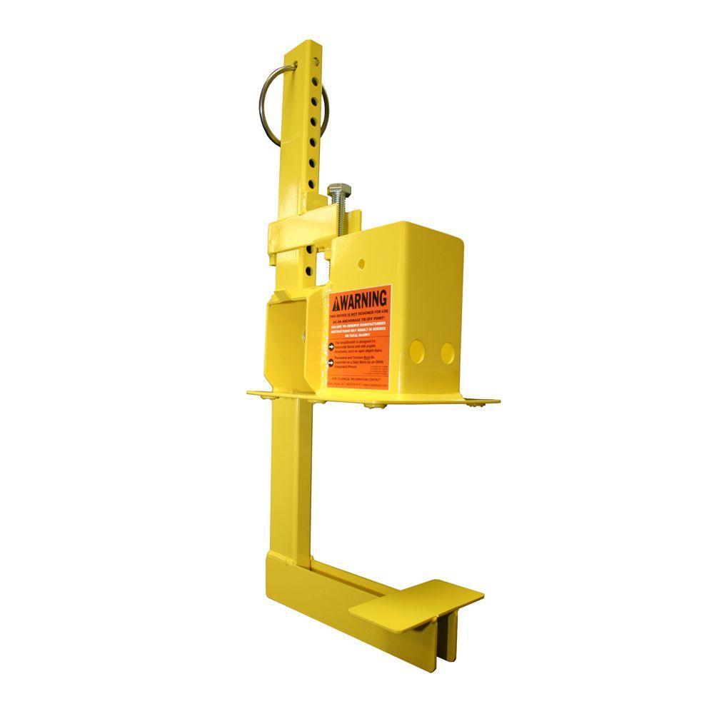1 Unit Yellow OSHA Compliant Non-Penetrating Stair Rail or Guardrail Clamp