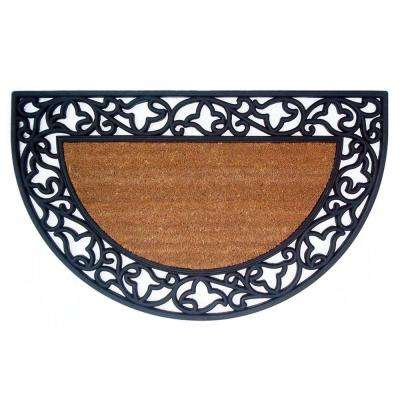 Wrought Iron Plain 22 in. x 36 in. Door Mat