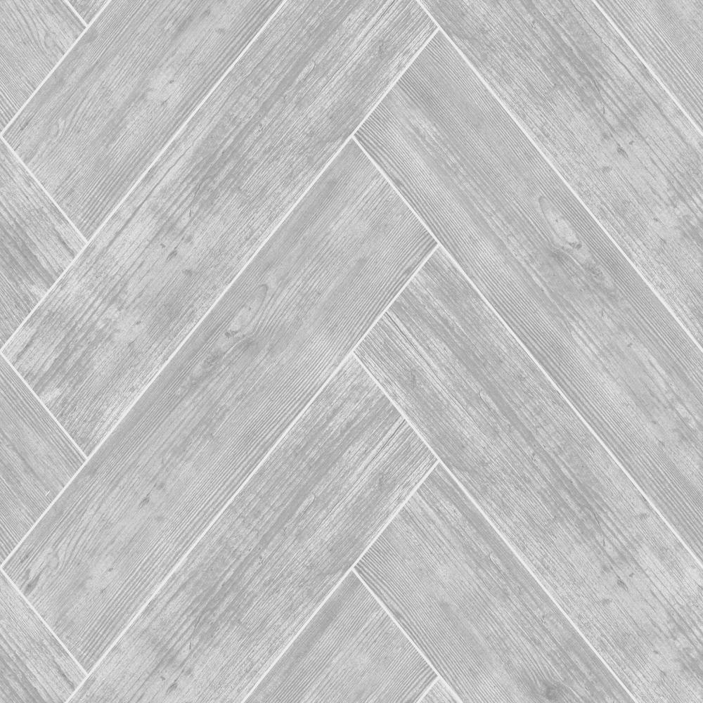 Strata Herringbone Wood Dark Grey Removable Wallpaper