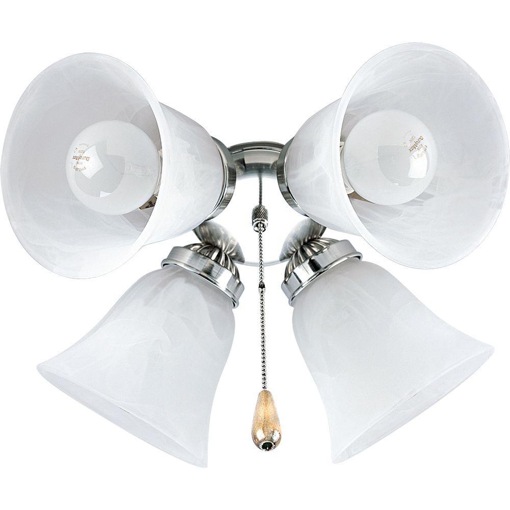 AirPro 4-Light Brushed Nickel Ceiling Fan Light