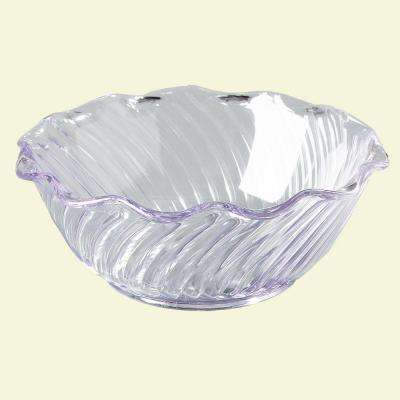 13 oz. SAN Plastic Tulip and Berry Dish in Clear (Case of 24)