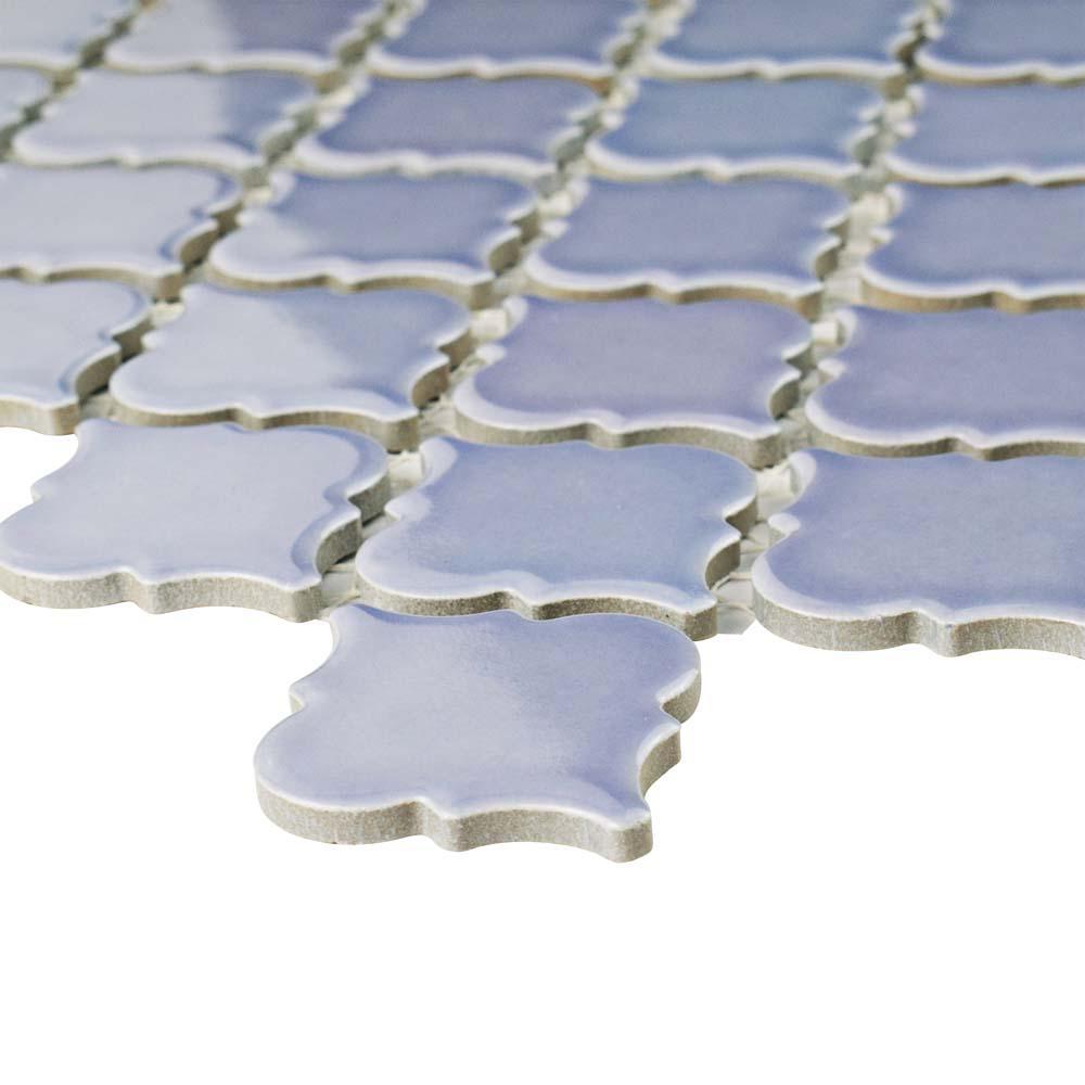 Hudson Tangier Lavender 12 in. x 12 in. Porcelain Mosaic Tile (10.96 sq. ft. / Case)