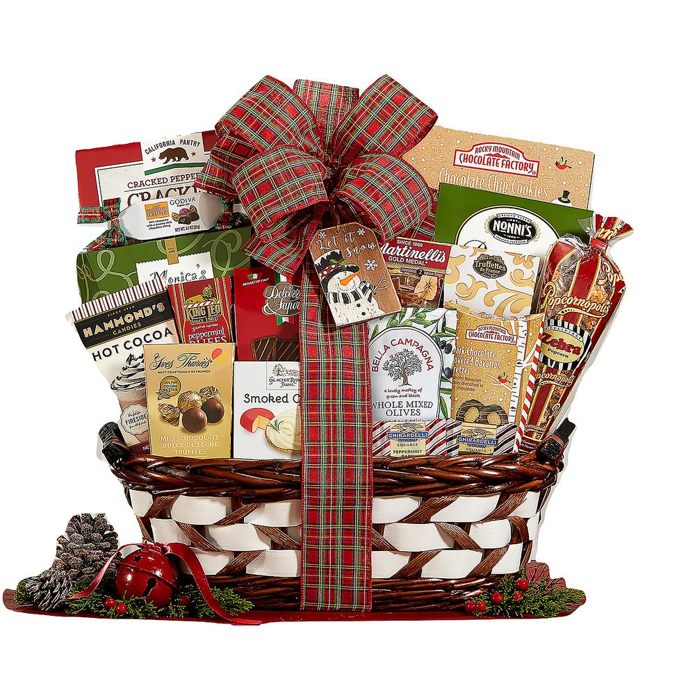 Seasonu0027s Greetings Holiday Gift Basket  sc 1 st  The Home Depot : wine country gift baskets - princetonregatta.org