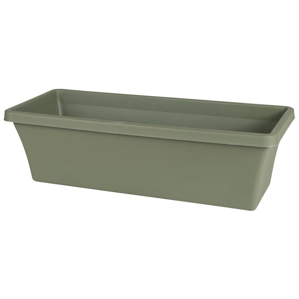Terra 18 in. Living Green Plastic Window Box Planter