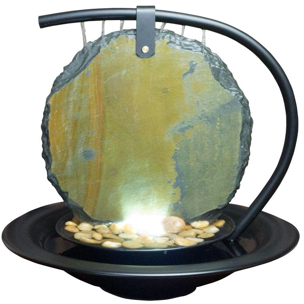 Water Wonders 15 in. Black Slate Zen Moonshadow Fountain