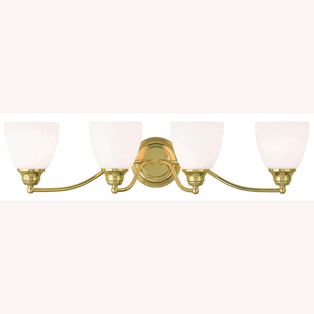 Somerville 4-Light Polished Brass Bath Light