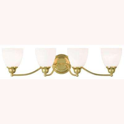 Somerville 4-Light Polished Brass Bath Light