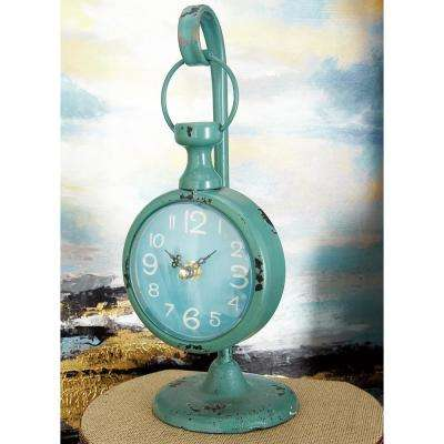 12 in. x 5 in. Multi Round Pedestal Hanging Table Clocks (Set of 4)