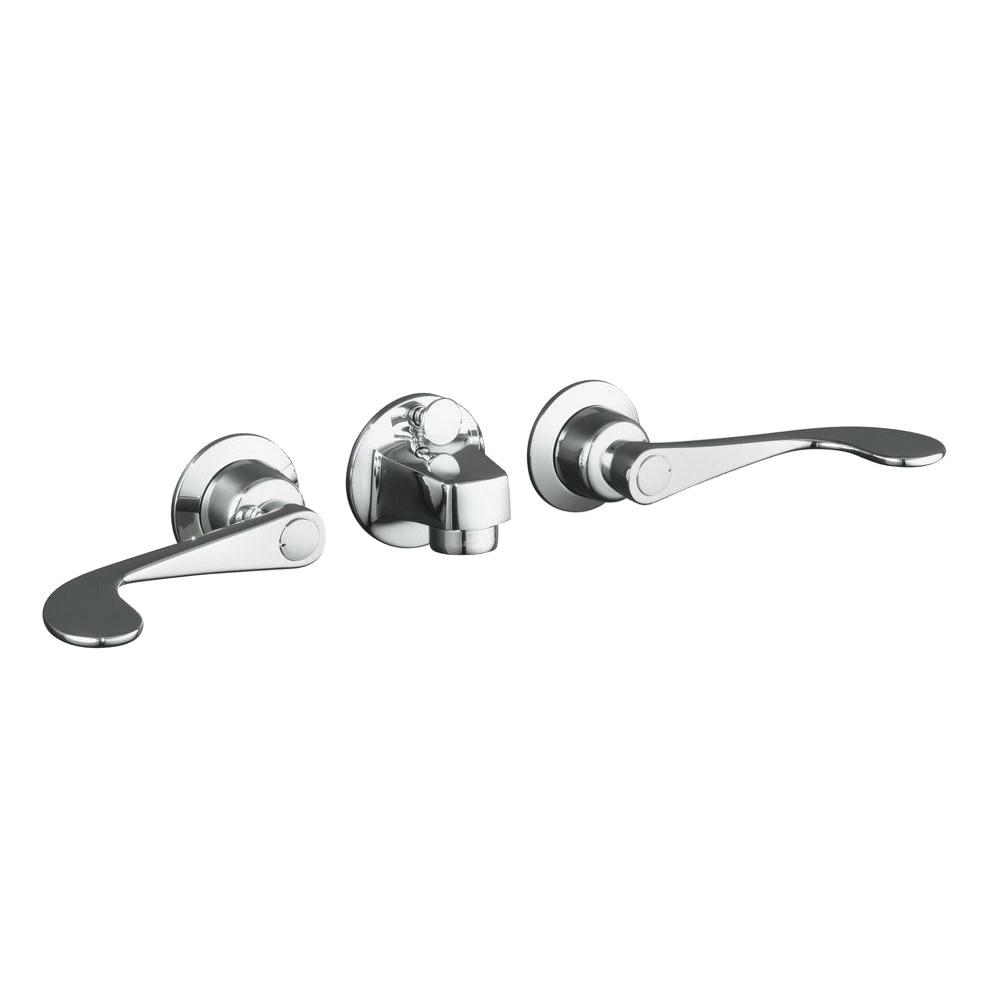 KOHLER Triton In Wall Mount Handle Low Arc ShelfBack - Kohler wall mount bathroom faucet