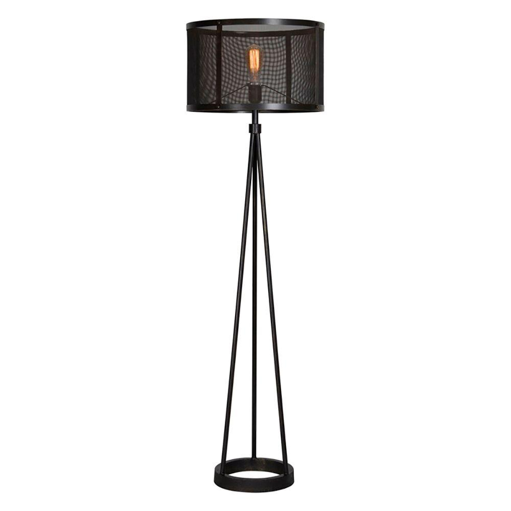 Renwil livingstone 60 in black floor lamp lpf582 the home depot black floor lamp aloadofball Choice Image
