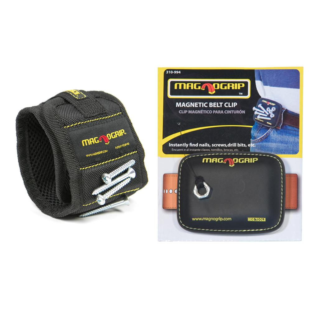 MagnoGrip Magnetic Wristband and Magnetic Belt Clip Set
