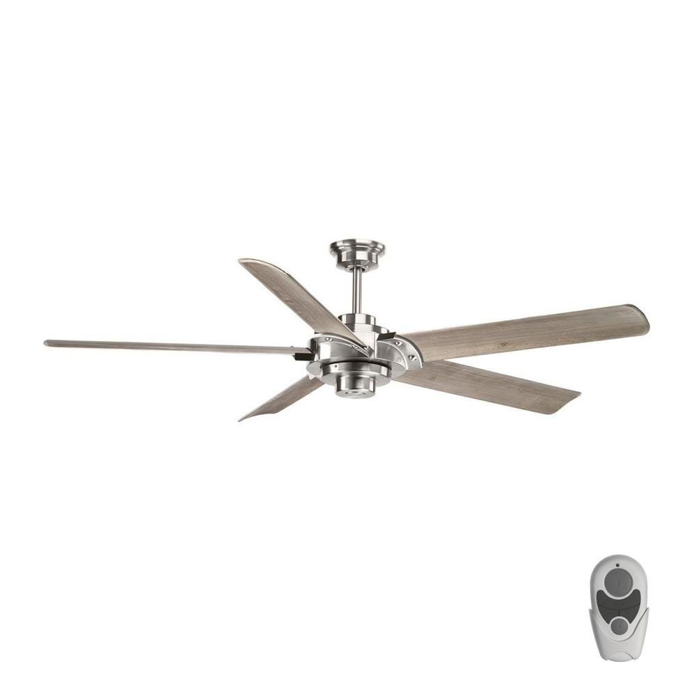 Progress Lighting Ellwood Collection 68 In Indoor Brushed Nickel Ceiling Fan With Remote