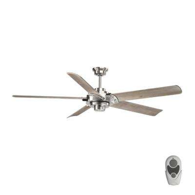 Ellwood Collection 68 in. Indoor Brushed Nickel Ceiling Fan with Remote