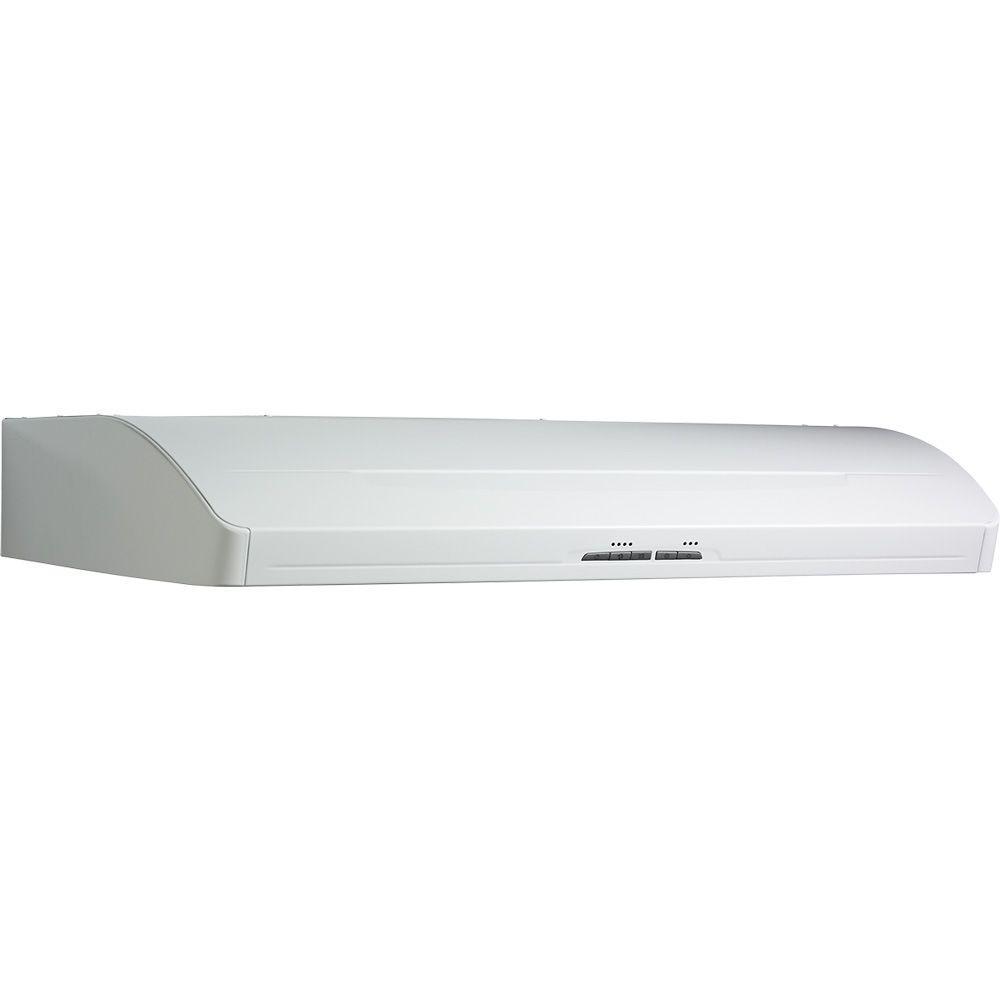 Broan 40000 series 36 in range hood in white 403601 the for Broan range hood